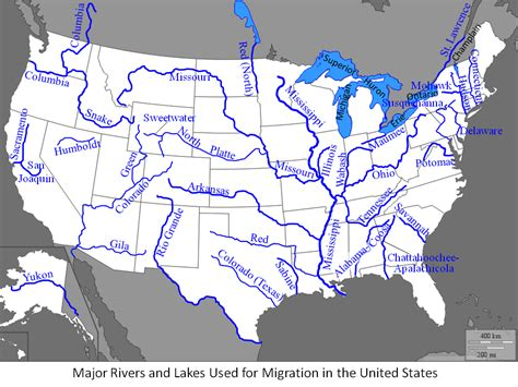 Major Rivers Of The United States Knowitall
