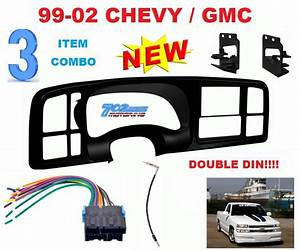99 00 01 02 Silverado Sierra Car Stereo Radio Double Din Installation Dash Kit