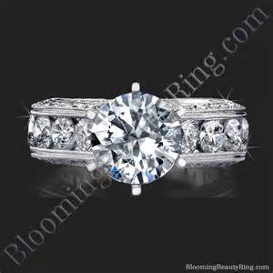 10 carat engagement ring 2 10 carat engraved engagement ring with quarter carat channel set diamonds
