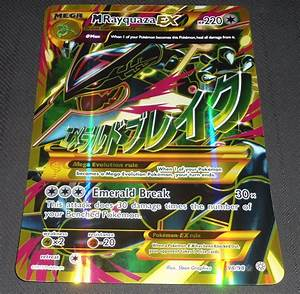 XY Shiny MEGA M Rayquaza EX 98/98 Jumbo Promo HOLO Rare ...