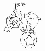 Elephant Coloring Pages Circus Cute Playing Printable Sheets Momjunction Standing Ball sketch template