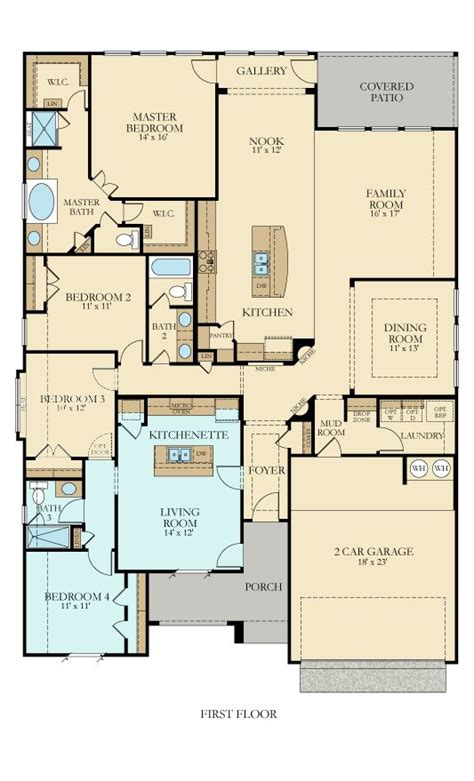lennar next floor plans az 492n hilltop new home plan in johnson ranch