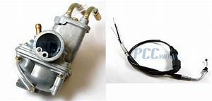 Carburetor And Throttle Cable For Yamaha Pw50 Pw 50 Carb Y