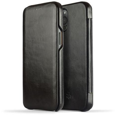 Novada Genuine Leather iPhone 12 Pro Max Case - Flip Cover ...