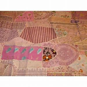 Couvre Lit Patchwork : couvre lit en patchwork brod fait main rosa ~ Teatrodelosmanantiales.com Idées de Décoration