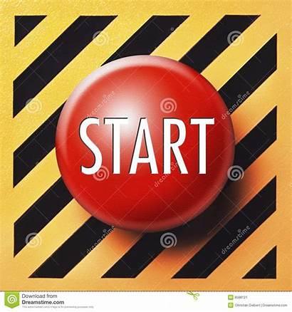 Button Start Launch Yes Orange Background Restart