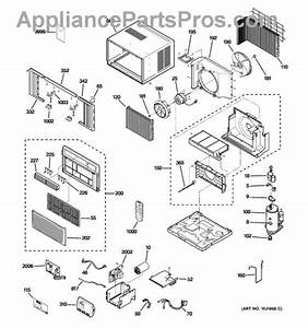 Parts For Ge Agw10abg1  Room Air Conditioner Parts