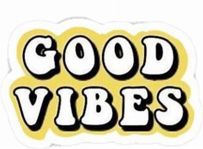 Vsco Vibes Stickers Sticker Yellow Goodvibes Gelb