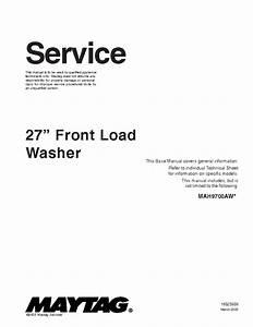Maytag Mah3000 Neptune Service Manual Download  Schematics