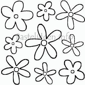 Blumen Basteln Vorlage : flower power blumen malvorlage oder bastelvorlage ~ Frokenaadalensverden.com Haus und Dekorationen