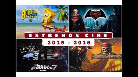 2016 (próximos Estrenos De Cine