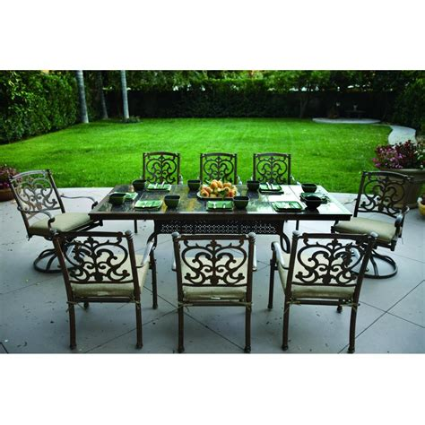 impressive 8 person patio dining set 3 8 person dining