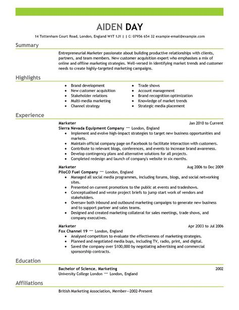 Vp Of Sales And Marketing Resume by Vp Sales And Marketing Resume Student Resume Template Student Resume Template