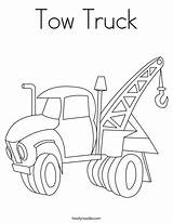 Tow Coloring Truck Pages Printable Trucks Worksheet Colouring Outline Lori Semi Tough Twistynoodle Monster Tunda Cars Tracing Preschoolers Stencils Getcolorings sketch template