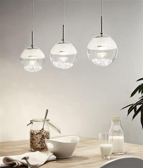 glass  crystal led single globe pendant
