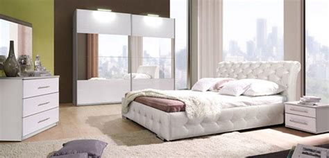 chambre adulte blanche lit chester chambre a coucher blanchel 160 x h 92 x p 226
