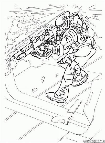 Coloring Soldier Future Action Spaceguard Costume Pages