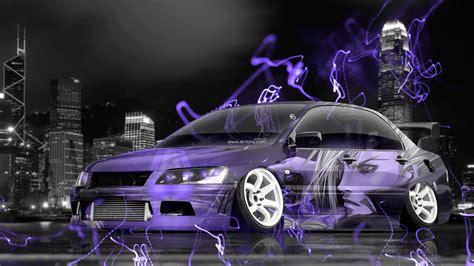mitsubishi lancer evolution jdm tuning anime city car