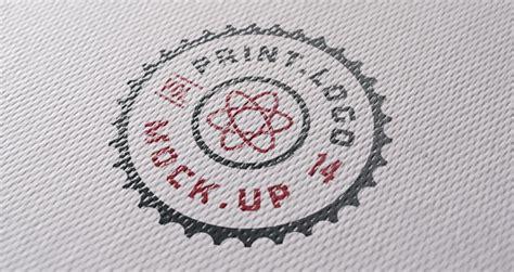 print logo mock  template psd mock  templates pixeden