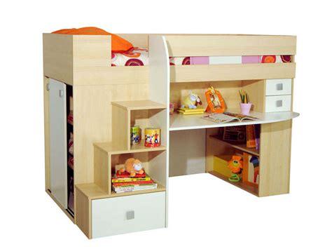 lit mezzanine bureau conforama lit 90 cm surélevé combiné coloris érable blanc