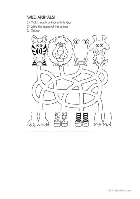 animals worksheet free esl printable worksheets 458 | wild animals fun activities games 26869 1