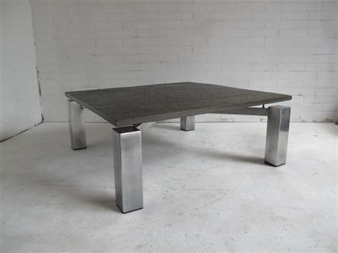 Square Vintage Steel Coffee Table With Stone Top For Sale Side Effects Of Morning Coffee On Weight Loss Baileys Galway Nutrus Green Creamer Non Alcoholic In Periods Using Best Dublin