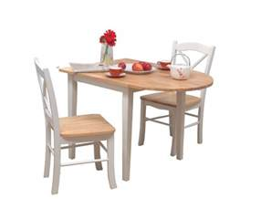 3 piece dining set white small drop leaf kitchen table
