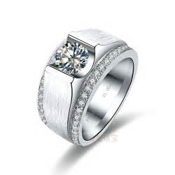 cheap mens engagement rings free shipping 1ct silver sona simulated engagement rings for mens ring 14k