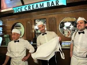 Soda Jerk Uniform- white shirt, black bow tie, white hat