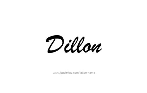 dillon  tattoo designs