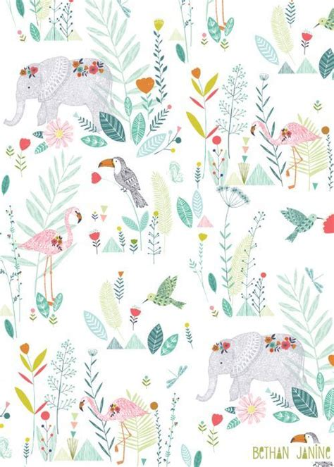 Animal Wallpaper Pattern - bethan animal patterns and wallpaper