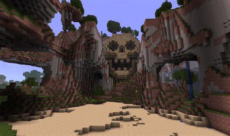 build  skull mountain evil base  minecraft bc