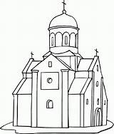 Church Coloring Pages Building Printable Empire State Drawing Churches Medieval Outline Dome Cathedral Drawings Freecoloringpagefun Getdrawings Popular sketch template