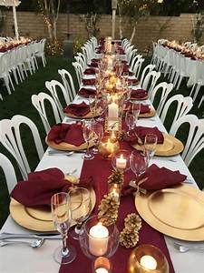 fall colors burgundy napkins table runners my wedding With burgundy wedding reception decorations