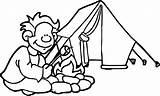 Coloring Camp Camping Sheets Printable Panda Wecoloringpage Heart Viatico sketch template
