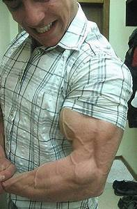 Vascular Bodybuilding Muscle Stop   Veins And Muscles About To Burst Through Shirt Sleeve
