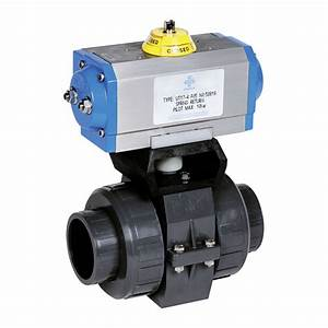 Praher 2-way Ball Valve S4 PVC-U Pneumatic Actuator ...