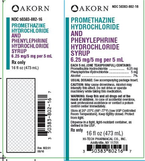 promethazine  phenylephrine fda prescribing