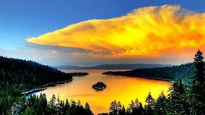 Nature Amazing Bay Awesome Stunning Tahoe Lake