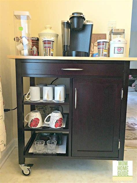 espresso kitchen cart home organization tips 3594