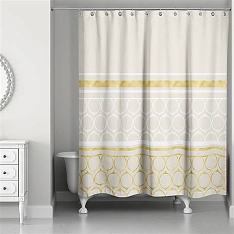ivory and gold curtains rings weighted shower curtain in ivory gold bed bath