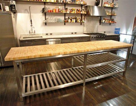 butcher block stainless steel kitchen island stainless steel kitchen island with butcher block top 9342