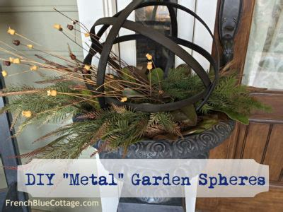 diy metal garden spheres french blue cottage