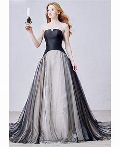 unique ball gown strapless court train tulle wedding dress With court wedding dresses