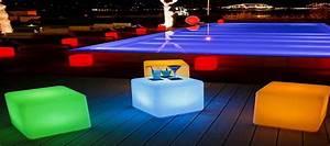 cube lumineux led sans fil deco lumineuse With cube lumineux solaire exterieur