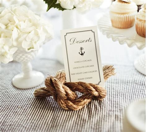 nautical table ls tying the knot table number blue wedding