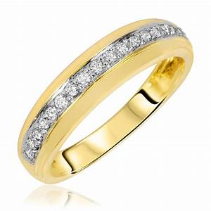 1 7 carat tw diamond women39s wedding ring 14k yellow With gold wedding rings for women with diamonds