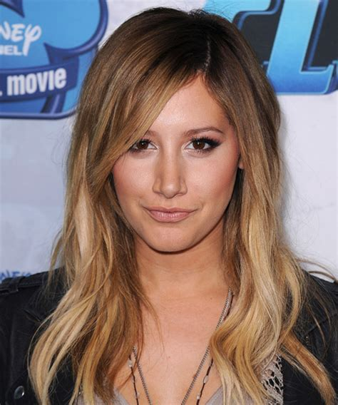 Ashley Tisdale Long Straight Casual Hairstyle   Medium