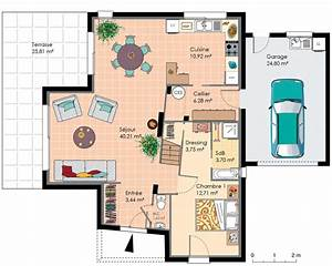 interieur maison moderne dessin With amazing dessin plan de maison 11 boussole 1