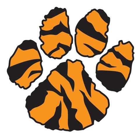 Tiger Paw Clip Tiger Paw Prints Clip Clipart Best
